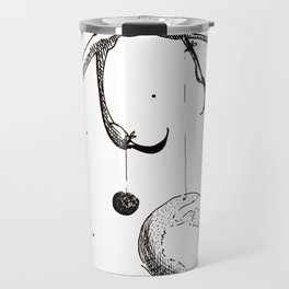 Queen of the Planets - Black Ink Travel Mug