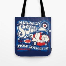 Soul Scoot Subway Soul by Dawn Carrington Tote Bag
