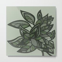 Let Love Grow - Mint Metal Print