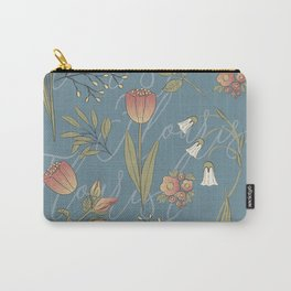 Blue Spring Flower, Spring Pattern, spring florals, flower pattern, flower surface pattern Carry-All Pouch