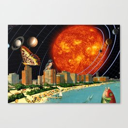 vacation on the other side of the solar system Canvas Print
