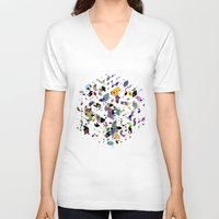 breaking V-neck T-shirts featuring Breaking Free by Angelo Cerantola