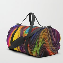 Melting Pot of Colors Abstract Duffle Bag