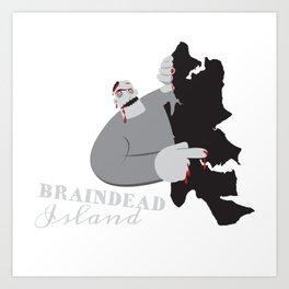 Braindead Island Art Print