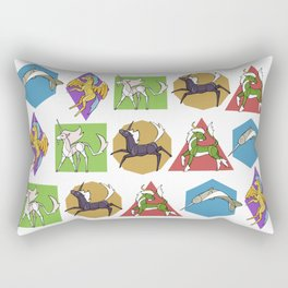 Geometric Unicorns Rectangular Pillow