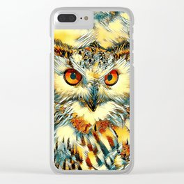 AnimalArt_Owl_20170912_by_JAMColorsSpecial Clear iPhone Case