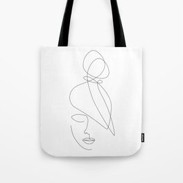 Hairstyle Lines Tote Bag