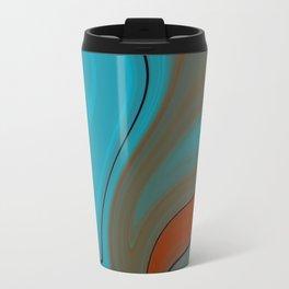 Sunset Sky Marble Travel Mug
