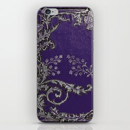 Blue and Silver Thistles iPhone Skin