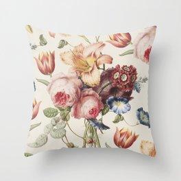 Vintage Botanical No. 3 Throw Pillow