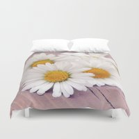 daisies Duvet Covers featuring Daisies. by Mary Berg