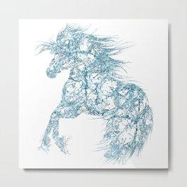 Water Splash Wild Horse Metal Print