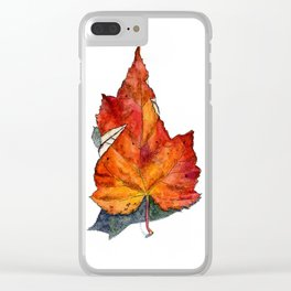 Fall Leaf Clear iPhone Case