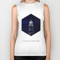 lighthouse Biker Tanks featuring Lighthouse by Mehdi Elkorchi