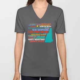 New Hampshire Native Unisex V-Neck