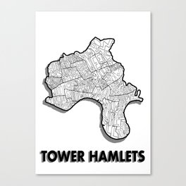 Tower Hamlets - London Borough - Simple Canvas Print