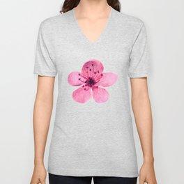 Watercolor cherry blossom Unisex V-Neck