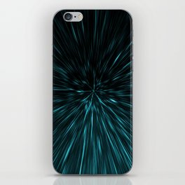 Blue and black Hypergalaxy iPhone Skin