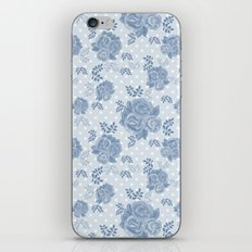Blue retro Roses .  iPhone & iPod Skin