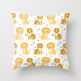 Lion & tiger Throw Pillow
