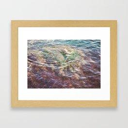 Colorful Ocean Wading Framed Art Print