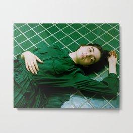 tara in green bathroom Metal Print
