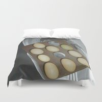 eggs Duvet Covers featuring eggs by anitaa