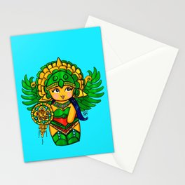 Warrior Princess Kokeshi Stationery Cards