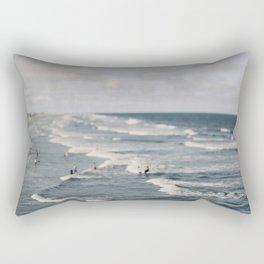 Blue Surf #2 Rectangular Pillow