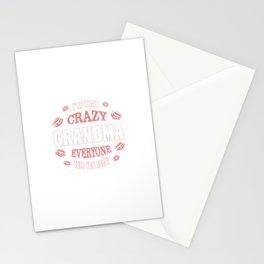 I'm That Crazy Grandma Stationery Cards