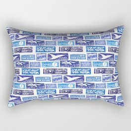 Air Mail / Par Avion Rectangular Pillow