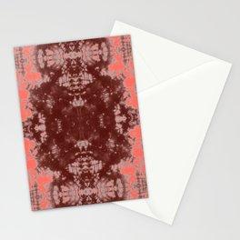 Living Coral Shibori Tye Dye Stationery Cards
