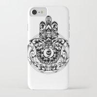 hamsa iPhone & iPod Cases featuring Hamsa by B. A Y N S L E Y
