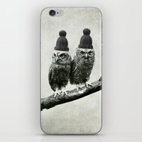 owls iPhone & iPod Skins featuring Owls by Juste Pixx Designs