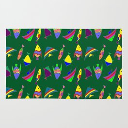 FISHES ON GREEN Rug