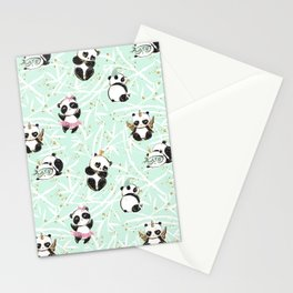 Panda Pattern 04 Stationery Cards