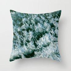 Green Rain Throw Pillow