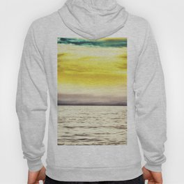warm sunset sky with ocean view Hoody