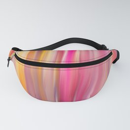 Abstract pink violet yellow watercolor brushstrokes stripes Fanny Pack