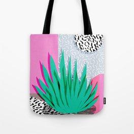 Dag - throwback memphis 1980s neon art pink pastel pattern black and white minimal art design urban Tote Bag