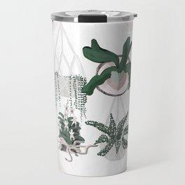 Plant Family Portrait for Plant Moms, Plant Ladies, and Plant Parenthood Travel Mug