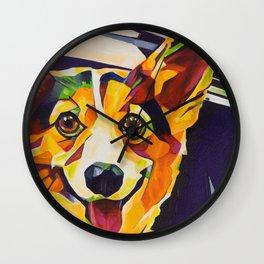 Pop Art Corgi Wall Clock