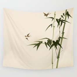 Oriental style bamboo branches 001 Wall Tapestry