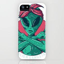 Alien Gangster iPhone Case
