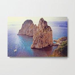 Capri Island. Faraglioni rocks Metal Print