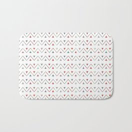 Ethno wave with triangles. Bath Mat