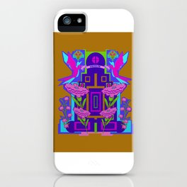 Temple of Flowers iPhone Case