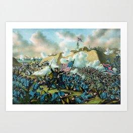The Capture of Fort Fisher - Civil War Art Print