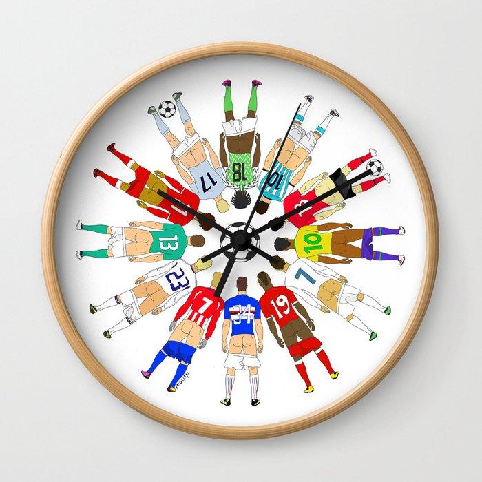 Soccer Butts Wall Clock