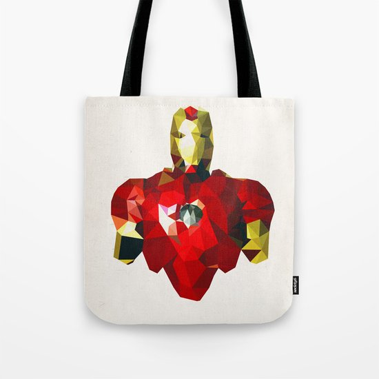 Polygon Heroes - Iron Man Tote Bag